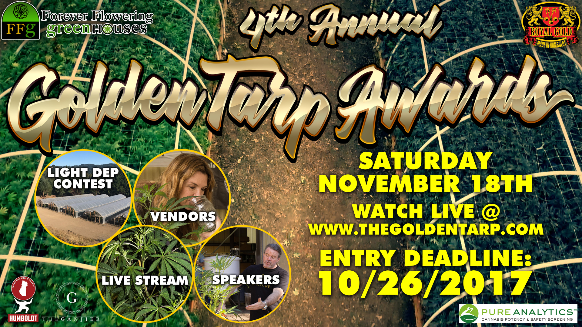 Golden Tarp Awards Facebook Cover Photo