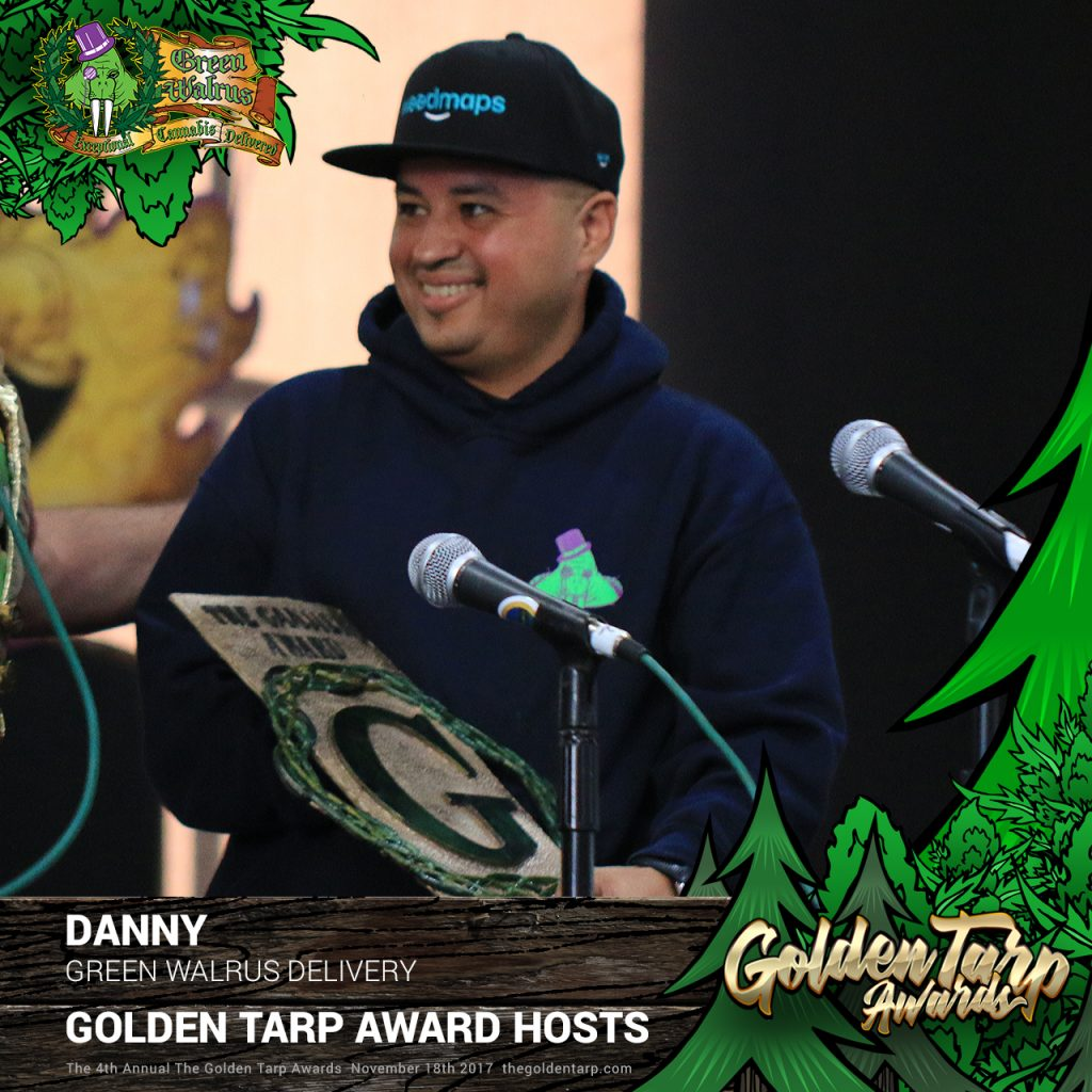 Danny, Owner of Green Walrus Delivery and 2016 Ganjier Award winner
