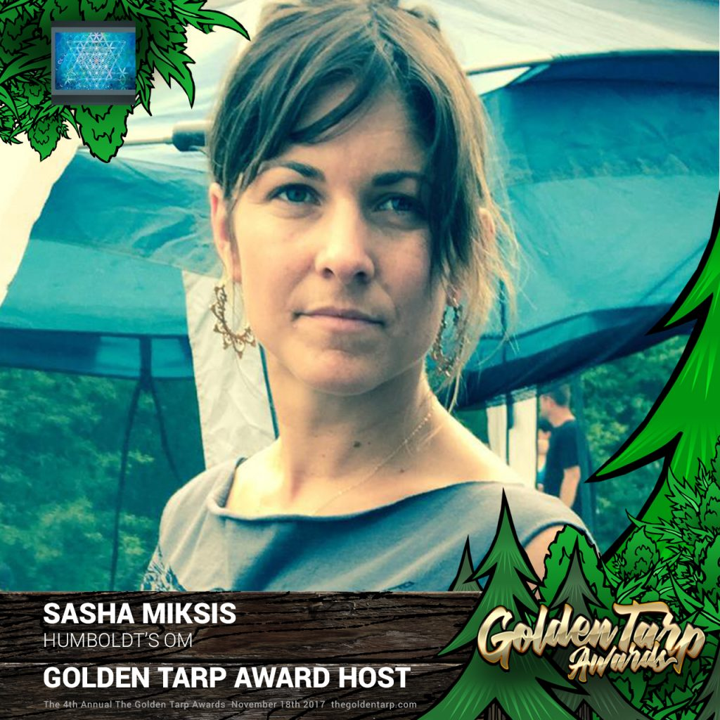 Sasha Miksis is a host for The Golden Tarp Awards