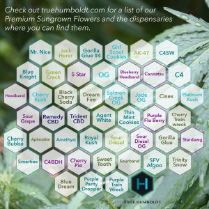 True Humboldt's Sungrown Cannabis Inventory