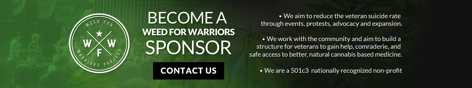 Weed for Warriors Project - Donate